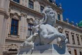 Rzeżba sfinks belwederu. wiedeń, austria — Zdjęcie stockowe