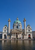 St. Charles Church (Karlskirche, 1737). Vienna, Austria — Stock Photo
