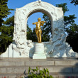 Monument for Johann Strauss in Vienna, Austria — Stock Photo