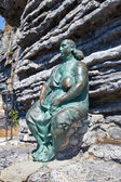 Mater Naturae, sculpture made by Lello Scorzelli. Portovenere, I — Stock Photo