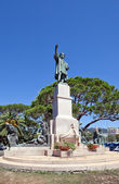 Monument for Christopher Columbus (1914) in Rapallo, Italy — Photo