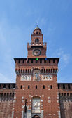 Tower of Filarete. Sforza Castle (XV c.). Milan, Italy — Stock Photo
