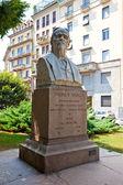 Monument for psychiatrist Andrea Verga. Milan, Italy — Stock Photo