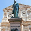 Stock Photo: Statue of novelist Alessandro Manzoni (1883). Milan, Italy
