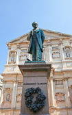 Statue of novelist Alessandro Manzoni (1883). Milan, Italy — Stock Photo