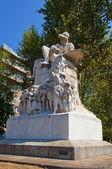 Monument (1884) to Felice Cavallotti. Milan, Italy — Stock Photo