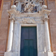 Entrance of  Santa Maria Assunta Church (XVI c.). Genoa, Italy — Stock Photo