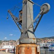Hydraulic crane (1888). Old Port, Genoa, Italy — Foto Stock