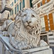 Stock Photo: Lion sculpture in GenoCathedral of Saint Lawrence