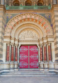 Main portal of Marseille Cathedral (XIX c.) — Stock Photo