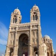 Front view of Marseilles Cathedral (XIX c.) — Stock Photo