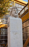 Bust of Greek explorer Euthymenes (1804). Marseilles, France — Stock Photo