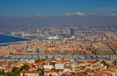 View of Old Port district in Marseilles city — Stock Photo