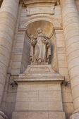 Estátua do papa bento xiv, na igreja de saint-cannat. marselha, — Fotografia Stock