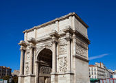 Triumphal arc Porte d Aix (circa 1839). Marseilles, France — Stock Photo