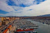 View of Old Port in Marseilles city — Foto Stock