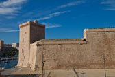 King Rene I tower (XV c.) of Fort Saint-Jean, Marseilles — Stock Photo