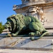 Lion sculpture of Monument du centenaire (1891). Avignon, France — Stock Photo