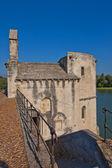 圣贝内泽桥上的圣尼古拉斯教堂。法国阿维尼翁 — 图库照片