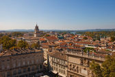 View of historic center of Avignon town. France — Stock Photo