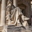 Moliere statue (XIX c.) in front of Opera Theatre in Avignon — Stock Photo