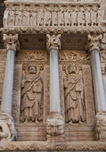Apostles Bartholomew and James the Great statues (1190). Arles, — Stock Photo