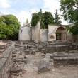 Постер, плакат: Roman necropolis Alyscamps in Arles France