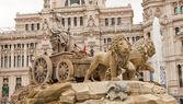 Fountain Cibelis (circa 1782). Madrin, Spain — Stock Photo