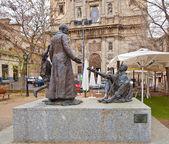 Monument to cardinal Ciriaco Maria Sancha Hervas in Toledo, Spai — Stock Photo