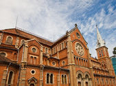 Saigon Notre-Dame Basilica (1880). Ho Chi Minh city, Vietnam — Stock Photo
