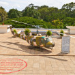 Stock Photo: UH-1 Iroquois helicopter. Reunification Palace, Ho Chi Minh city