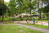 F-5E fighter aircraft. Reunification Palace, Ho Chi Minh city — Stock Photo