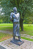 Statue of Russian poet Alexander Blok in Kaliningrad, Russia — Stock Photo