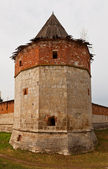 Naugolnaya tower (XVI c.) of Zaraysk kremlin, Russia — Stock Photo