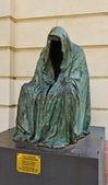 Statue Commendatore near Estates Theatre in Prague , Czech Repub — Stock Photo
