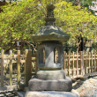 Japanese traditional stone lantern in Great Buddha temple — Stock Photo