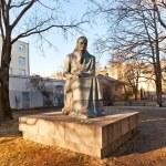 ������, ������: Monument to Lithuanian writer Zemaite Vilnius Lithuania