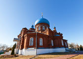 Intercession of Theotokos church (1902). Igumnovo, Russia — Stock Photo
