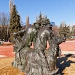 Monument to Yuri Nikulin and Michael Shuidin in Kursk, Russia — Stock Photo