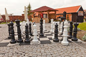 Giant chess figures in Gniew castle, Poland  — Stock Photo