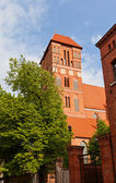 Belfry of Saint Jacob church (1350). Torun, Poland — Stock Photo
