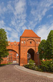 Gdanisko tower (XIV c.) of Teutonic Order castle. Torun, Poland  — Stock Photo