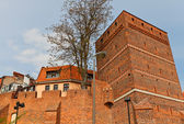 Leaning Tower (circa XIV c.) of Torun town, Poland — Stock Photo