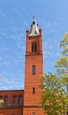 Beffroi de la ville-(1886) de kwidzyn en église Sainte-Trinité, Pologne — Photo