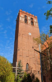 Belfry of St. John Cathedral (1384) in Kwidzyn town, Poland — Stock Photo