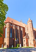Saint John Cathedral (1384) in Kwidzyn town, Poland — Foto de Stock