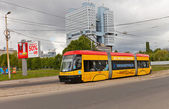 Yellow tram in Kaliningrad, Russia — ストック写真