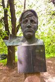 Sculpture Portrait of the Worker in Kaliningrad, Russia  — Stock Photo