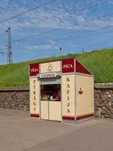 Food stall in Riga, Latvia — 图库照片