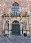 Central portal (1692) of St. Peter church in Riga, Latvia — Stock Photo